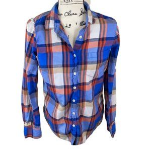 J. CREW Perfect Fit Button Down Shirt- Small